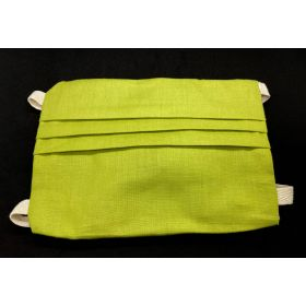 Fabric face mask - green - adult M - tie