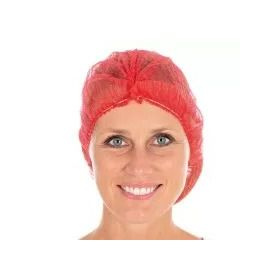 Hair cover ECO clipclap D50mm non-woven - red