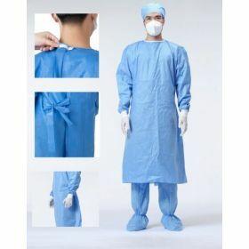 Non-woven apron - blue- type PB 6-B