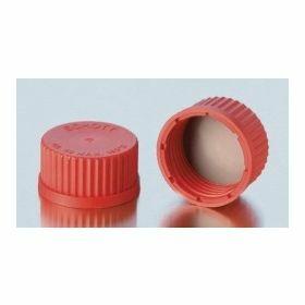 Red screw cap PBT + PTFE gasket GL14