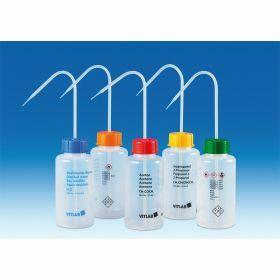 Safety wash bottle VITsafe LDPE with wide neck ethyl acetate 500ml