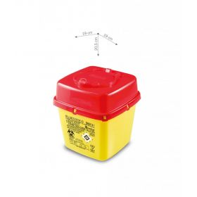 Sharps containers AP Medical CS PLUS line, square, yellow/red