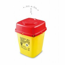Sharps containers AP Medical  DAILY line, square, yellow/red