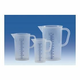 Beaker - PP - with blue mouled graduations