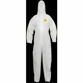 Coverall with hood - white - Cat. III Type 5/6
