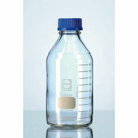 Duran® Laboratory bottle, narrow neck with blue PP cap