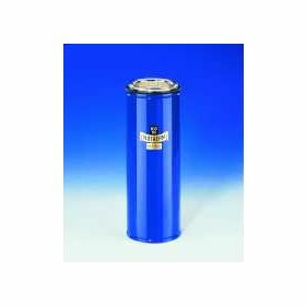 Dewar flask cylindrical for CO2 and LN2