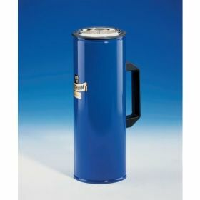 Dewar flask cylindrical with side handle for CO2 and LN2