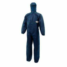KLEENGUARD A10 Light Duty Coveralls - Hooded -  Blue