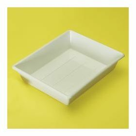 Tray in white Polypropylene, deep model