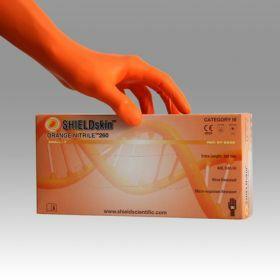 SHIELD Scientific - SHIELDskin™ ORANGE NITRILE™ 260 gloves