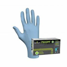 Showa 7502PF blue nitrile gloves - (EBT) - powderfree - 0.06mm