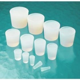 Silicone stoppers, transparant, conical shape, solid