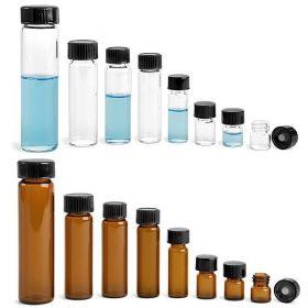 Wheaton vials 8ml - black phenolic cap & (PTFE)/14B rubber liner