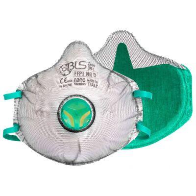 BLS Zer0 30C cup mask FFP3 Nano - valve - partial gasket - activated carbon