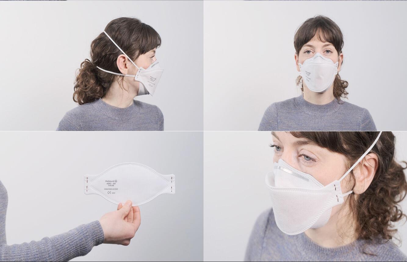 Medimundi's face mask reference: ADF2-202NR (FFP2)